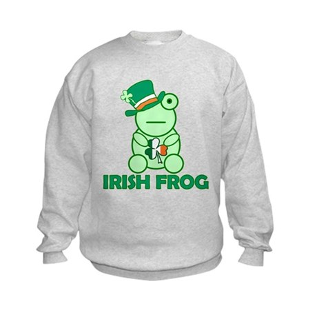 Irish Leprechaun Frog Kids Sweatshirt