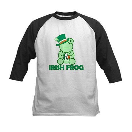 Irish Leprechaun Frog Kids Baseball Jersey