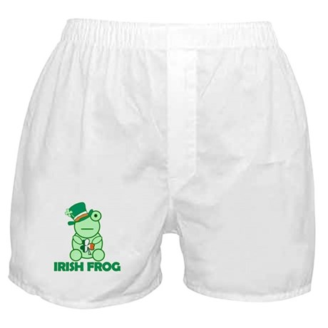 Irish Leprechaun Frog Boxer Shorts