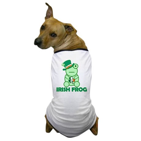 Irish Leprechaun Frog Dog T-Shirt
