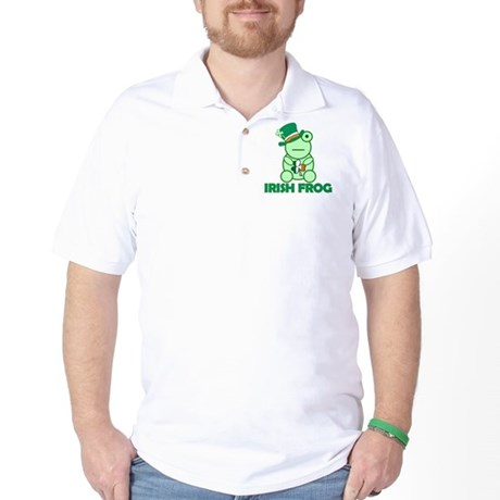 Irish Leprechaun Frog Golf Shirt