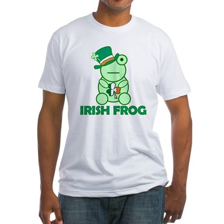 Irish Leprechaun Frog Fitted T-Shirt