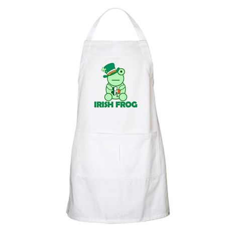 Irish Leprechaun Frog BBQ Apron