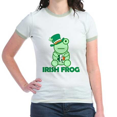Irish Leprechaun Frog Jr. Ringer T-Shirt