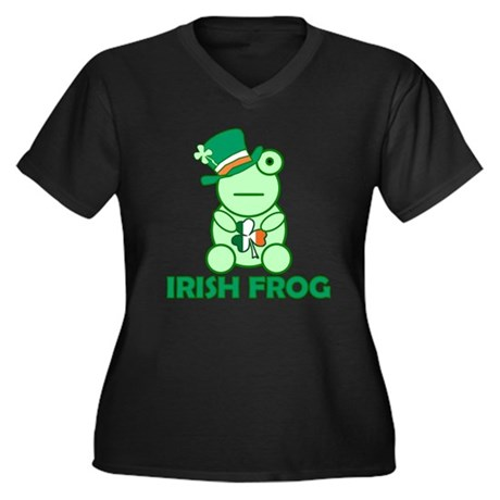 Irish Leprechaun Frog Women's Plus Size V-Neck Dar