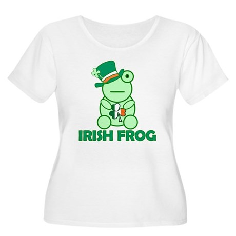 Irish Leprechaun Frog Women's Plus Size Scoop Neck
