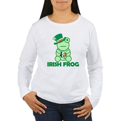 Irish Leprechaun Frog Women's Long Sleeve T-Shirt