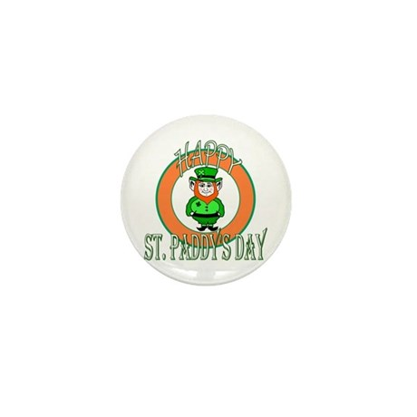 Leprechaun Happy St Paddy's Mini Button (10 pack)