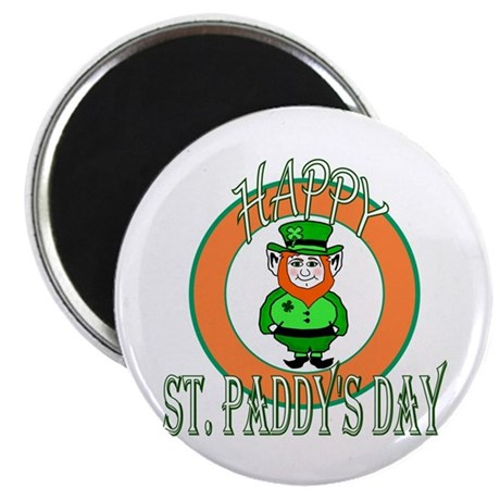 "Leprechaun Happy St Paddy's 2.25"" Magnet (10 pack)"