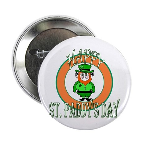 "Leprechaun Happy St Paddy's 2.25"" Button (10 pack)"