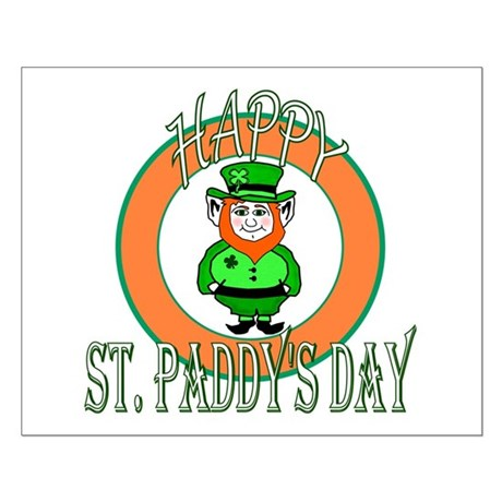 Leprechaun Happy St Paddy's Small Poster