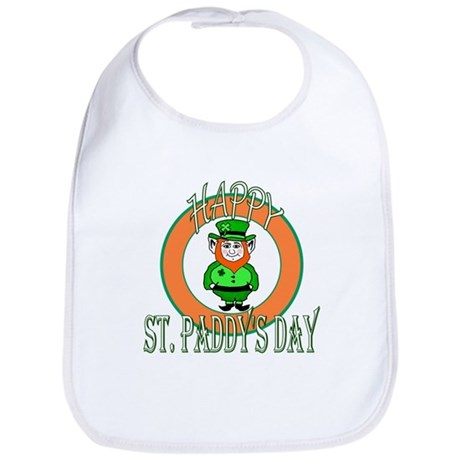 Leprechaun Happy St Paddy's Bib