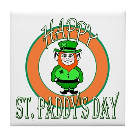 Leprechaun Happy St Paddy's Tile Coaster