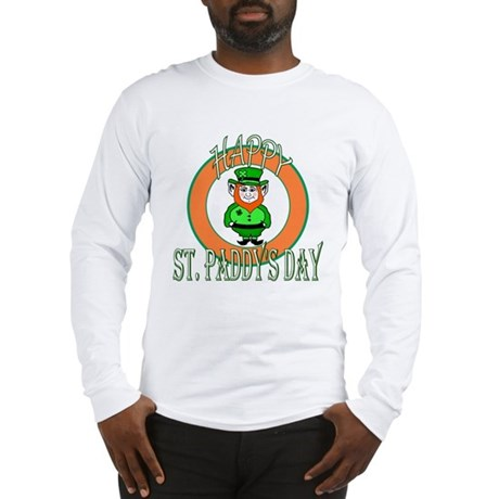 Leprechaun Happy St Paddy's Long Sleeve T-Shirt
