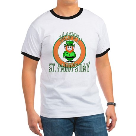 Leprechaun Happy St Paddy's Ringer T