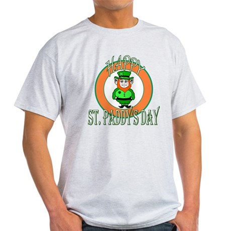 Leprechaun Happy St Paddy's Light T-Shirt