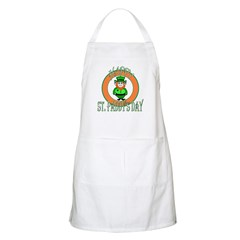 Leprechaun Happy St Paddy's BBQ Apron