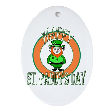 Leprechaun Happy St Paddy's Oval Ornament