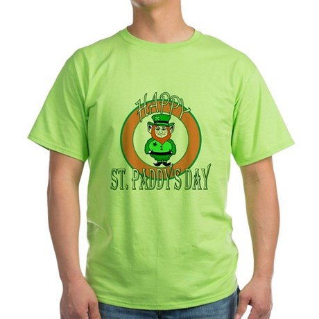 Leprechaun Happy St Paddy's Green T-Shirt