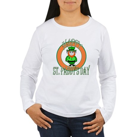 Leprechaun Happy St Paddy's Women's Long Sleeve T-