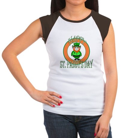 Leprechaun Happy St Paddy's Women's Cap Sleeve T-S