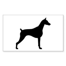 Doberman Pinscher Rectangle Decal