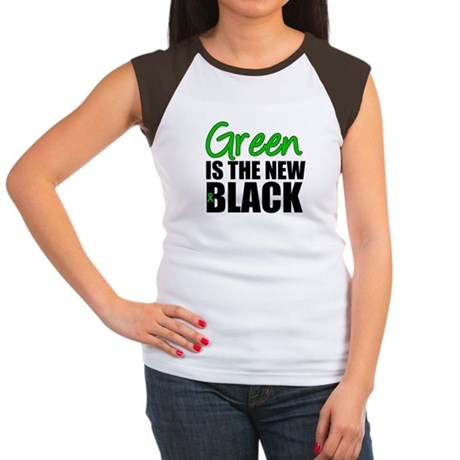Green is the New Black Women's Cap Sleeve T-Shirt