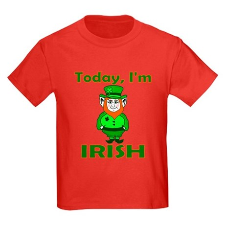Today I'm Irish Kids Dark T-Shirt