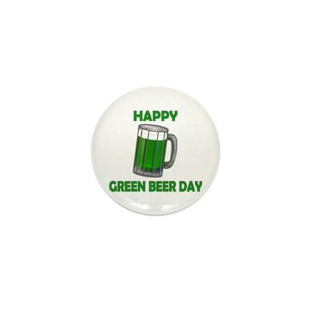 Green Beer Day Mini Button
