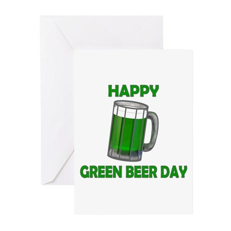 Green Beer Day Greeting Cards (Pk of 10)