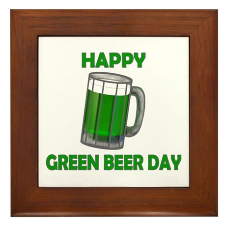 Green Beer Day Framed Tile