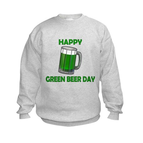 Green Beer Day Kids Sweatshirt