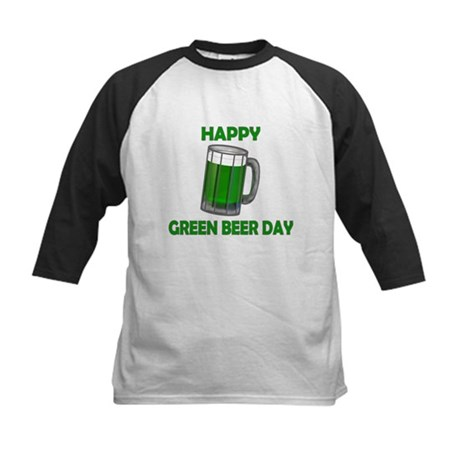 Green Beer Day Kids Baseball Jersey