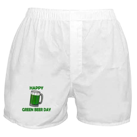Green Beer Day Boxer Shorts