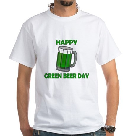 Green Beer Day White T-Shirt