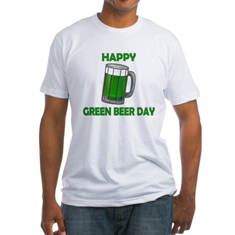 Green Beer Day Fitted T-Shirt