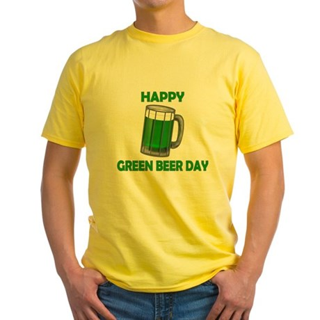 Green Beer Day Yellow T-Shirt