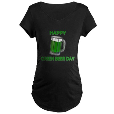 Green Beer Day Maternity Dark T-Shirt