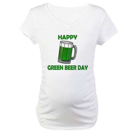 Green Beer Day Maternity T-Shirt