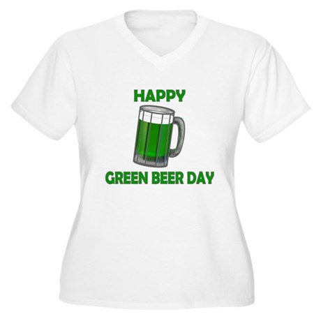 Green Beer Day Women's Plus Size V-Neck T-Shirt