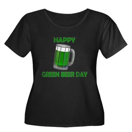 Green Beer Day Women's Plus Size Scoop Neck Dark T