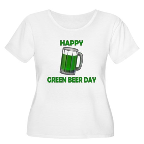 Green Beer Day Women's Plus Size Scoop Neck T-Shir