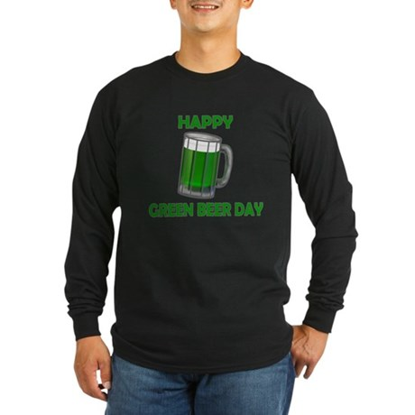 Green Beer Day Long Sleeve Dark T-Shirt