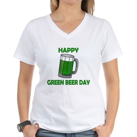 Green Beer Day Women's V-Neck T-Shirt