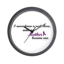 Never Knew A Hero MOTHER (Purple) Wall Clock