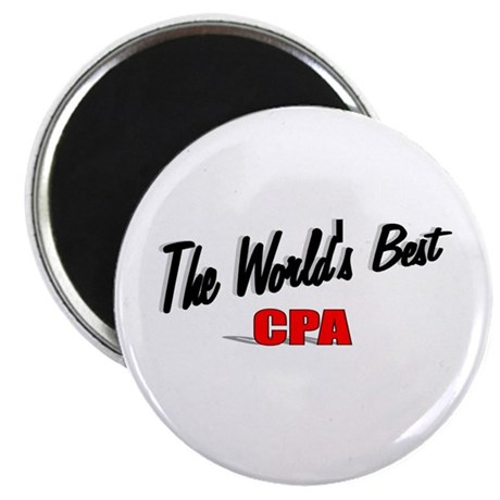 &quot;The World's Best CPA&quot; 2.25&quot; Magnet (10 pack)