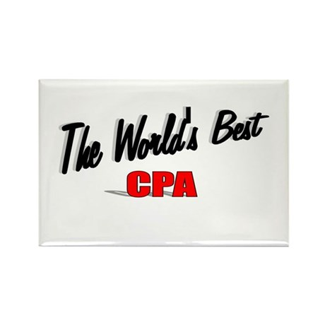 &quot;The World's Best CPA&quot; Rectangle Magnet (100 pack)