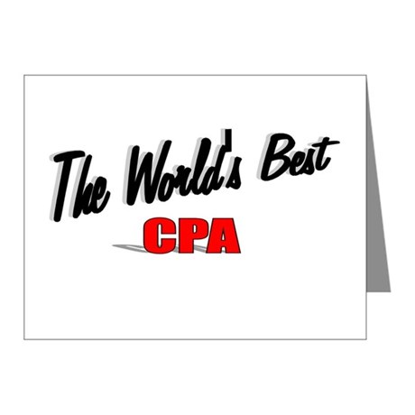&quot;The World's Best CPA&quot; Note Cards (Pk of 10)
