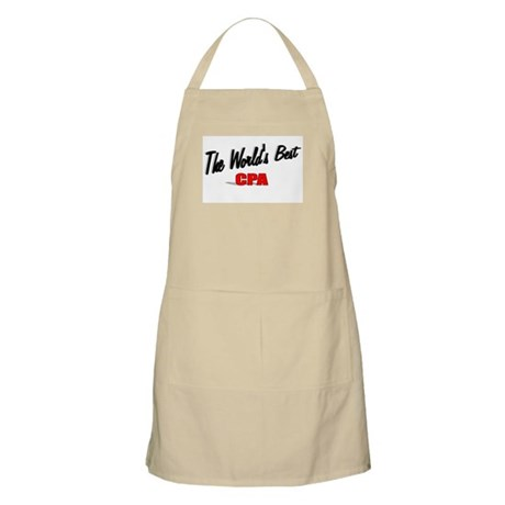 &quot;The World's Best CPA&quot; BBQ Apron