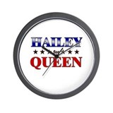 HAILEY for queen Wall Clock
